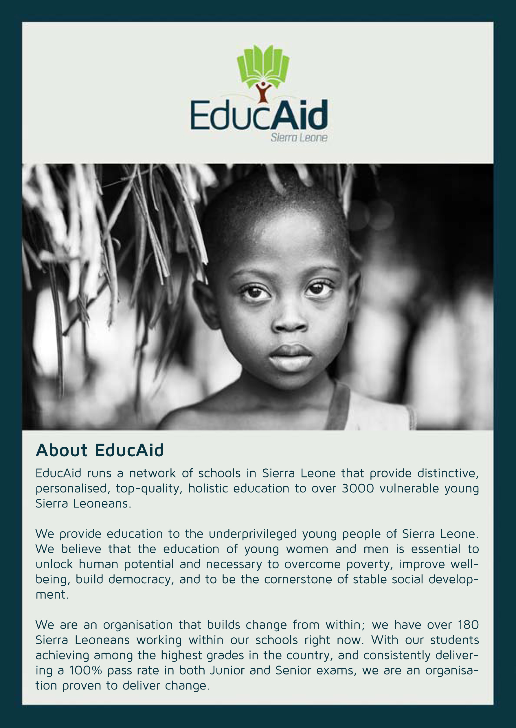 EducAid Ebola Front Web Flyer
